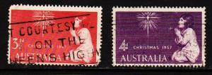 Australia - #306 - 307  1957 Christmas set - Used