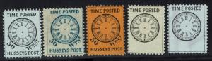 United States - Time Posted Husseys Post - 5 Stamps MNG - Lot 011016
