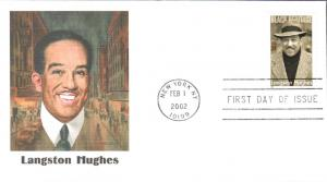 #3557 Langston Hughes Fleetwood FDC