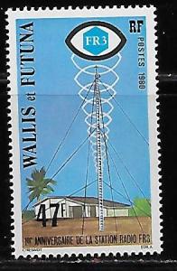 Wallis and Futuna Islands 254 Radio Station single MNH