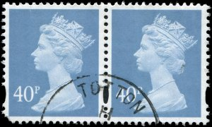 Great Britain - Scott #MH 266 - 1 QE II 40p Chalky Blue - Used