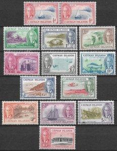 Doyle's_Stamps: 1950 Cayman Islands KGVI Postage Stamp Set, cv $81.20   (L34)