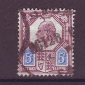 J17654 JLstamps 1902-11 great britain used #134 KEVII