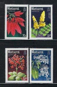 Montserrat Scott 632-635s Mint Never Hinged - Specimen Stamps