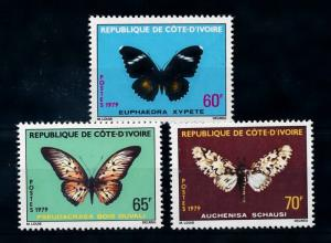[70713] Ivory Coast 1979 Insects Butterflies  MNH