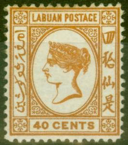 Labuan 1893 40c Brown-Buff SG47a No Dot at Upper Left Fine & Fresh Mtd Mint