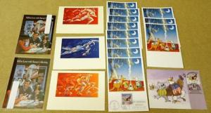 Collection of USA Stamp Postcards 17qty