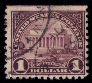 US SCOTT #571 USED $1 F-VF