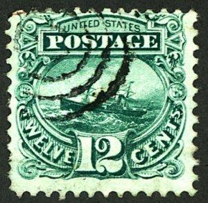 U.S. #117 USED PIN HOLE