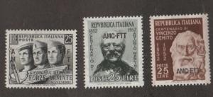 Italy Trieste Scott #159-160-161 Stamp - Mint Single