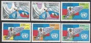 Haiti  866-71  MNH  United Nations 50th Anniversary