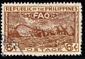 Philippines Stamp 1948 United Nations Food and Agriculture Organization USED 6C