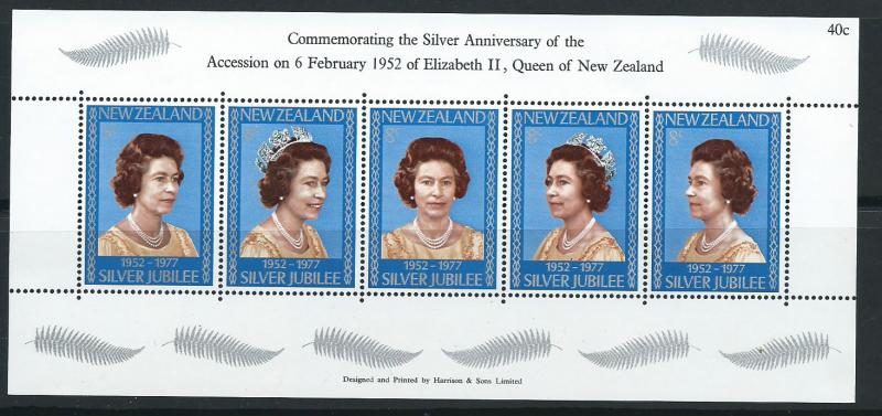 New Zealand SG MS 1137  Mint no cancel on piece