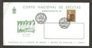 1972  Portugal Boy Scout Agrupamento 53 30th anniversary Lisboa