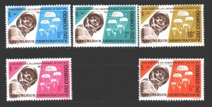 Kinshasa. 1965. 235-39. 5 years of independence Parachute Military. MNH.