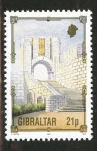 Gibraltar Scott 637 MNH** war memorial stamp 1993