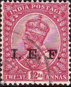 INDIA 1914 KGV 12a I.E.F Carmine-Lake SGE11 Used
