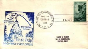 United States, Highway Post Offices, Maryland, West Virginia