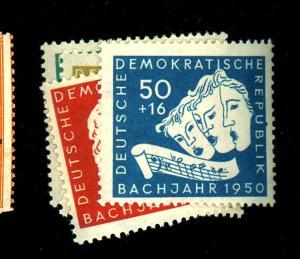 Germany Dem Rep #B17-20 MINT FVF OG LH Cat$33