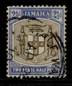 JAMAICA EDVII SG41, 2½d grey and ultramarine, USED. MULT CA