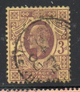 Great Britain Sc 132 1904 3d dull purple Edward VII stamp used