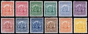 El Salvador Scott 177-188 (1898) Mint H F-VF Complete Set