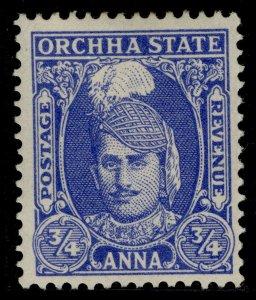 INDIAN STATES - Orchha GVI SG33, ¾a bright blue, M MINT.