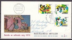 Netherlands Antilles. Scott cat. B116-B118. Steel Bands. First day cover. ^