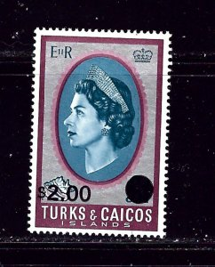 Turks and Caicos 195 MNH 1969 surcharge