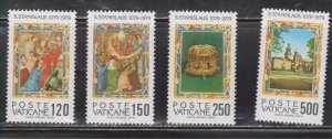 VATICAN Scott # 648-51 MNH - Martyrdom Of Saint Stanislas