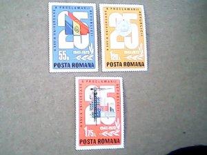1972  Romania  #2396 - #2398  MNH  Set of three