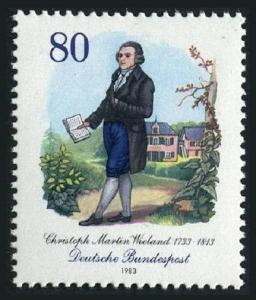 Germany 1401,MNH.Michel 1183. Christoph Martin Wieland,1733-1813,poet,1983.