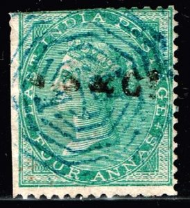 INDIA STAMP Queen Victoria  4 ANNA USED STAMP