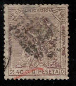 Spain Scott 195 Used black and red cancels nice centering Hinge Thin