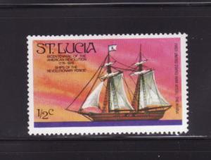 St Lucia 379 MHR Sailing Ship, The Hanna