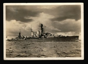 German Battleship SMS Emden BW Picture Post Card Used F