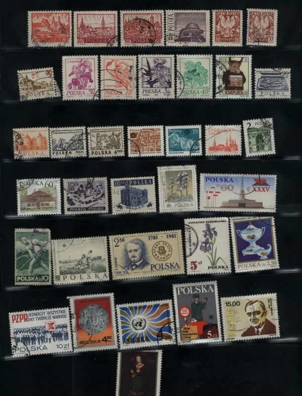 Poland 35 different used  PD