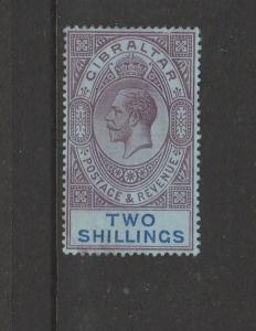 Gibraltar 1912/21 crown CA 2/- MM SG 82
