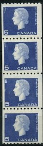 JUMP STRIP # 409i --- of four - Cat$40 MNH QEII CAMEO ISSUE Canada mint