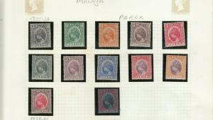 PERAK 1935 SET MINT TO $1