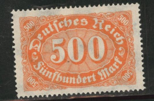 Germany Scott 203 MH* 1922 stamp with web wmk 126