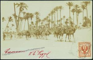 Italy Libya Libia Tripoli Camel RPPC Used From Italian Offices to Sweden 45107