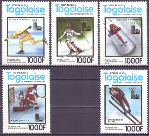 Togo. 1980. 1508-12. Winter Olympic Games. MNH.