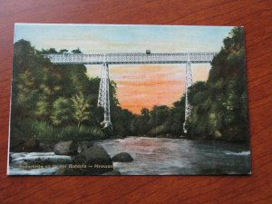 Netherland Indies Postcard Unused 1907-15 Java Batavia River Bridge Tram Rail