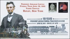 2015, President Lincoln Funeral Train Route, Pictorial, Ripley NY, 15-357