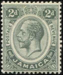 Jamaica SC# 63 SG# 60 George V 2d MLH  wmk 3