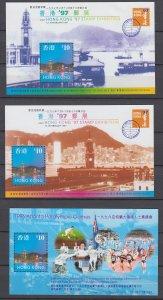 Z3973, 1997 hong kong s/s mlh #776a-c series 4-5, sheet 12