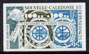 New Caledonia 1974 UPU (Telecommunications) imperf colour...