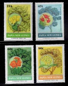 Papua New Guinea Scott 794-797  MNH** Flowering Tree set 1996