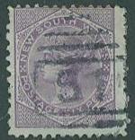 New South Wales SC#66d QV,  6d, used, p12x10